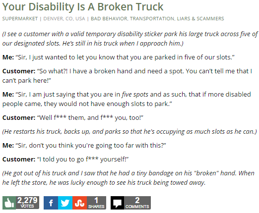 Your Disability Is A Broken Truck