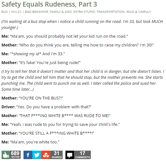 Safety Equals Rudeness, Part 3