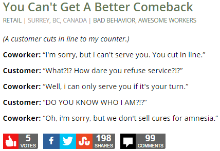 You Can't Get A Better Comeback